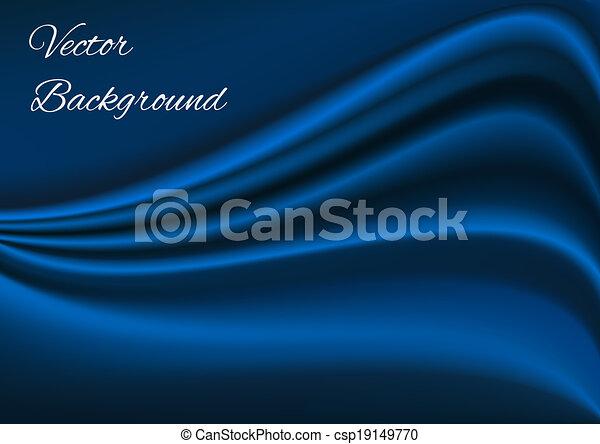 blauer stoff, beschaffenheit, vektor, künstlerisch, hintergrund - csp19149770