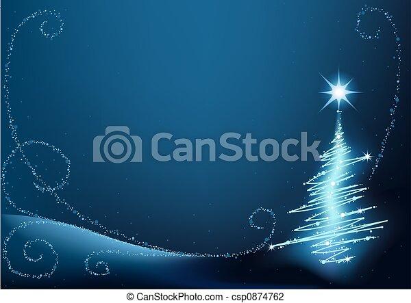 Blauer Weihnachtsbaum - csp0874762