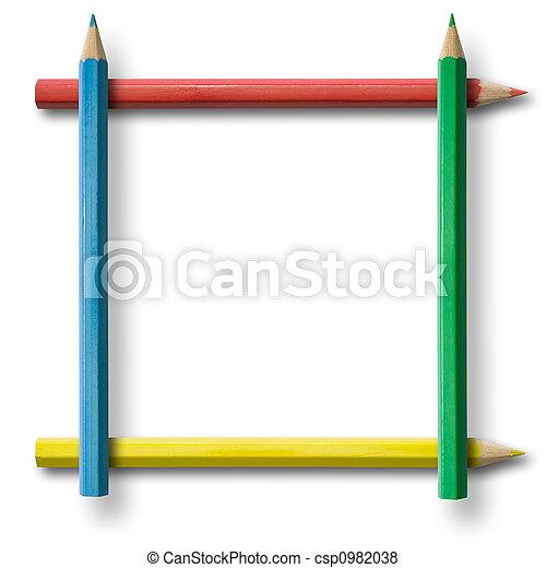 Bleistiftrahmen - csp0982038