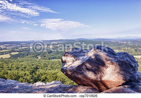 Blick auf die Jungfrau von den Stierbergen. - csp7010626