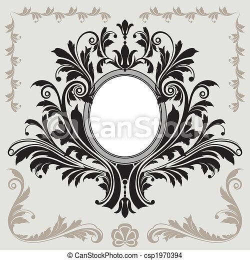 blumen dekoration, rahmen - csp1970394