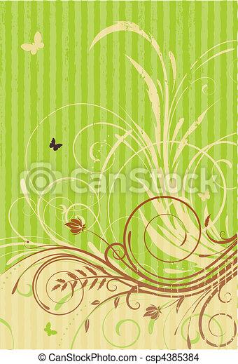 blumen-, dekorativ, hintergrund - csp4385384