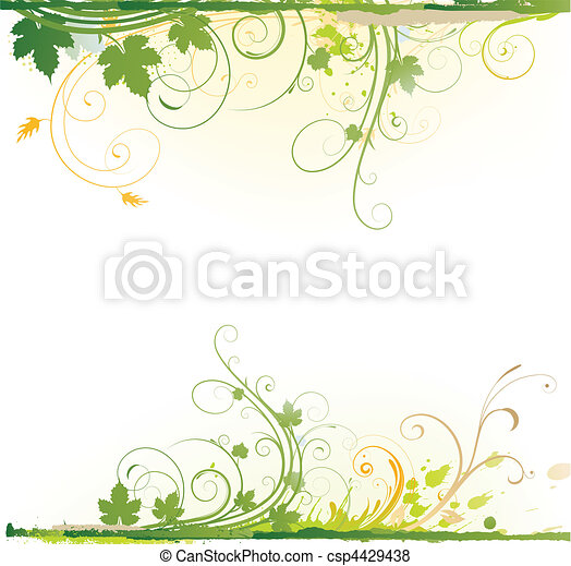 blumen-, dekorativ, hintergrund - csp4429438