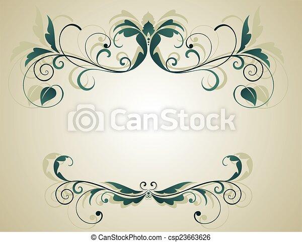 Floral grunge Banner - csp23663626