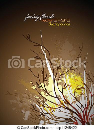Farbiger Blumengrange - csp11245422