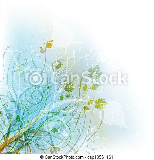 Floral Grunge - csp10561161