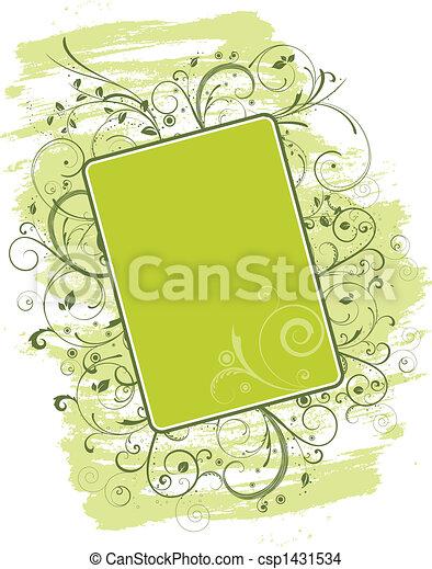 Floral Grunge - csp1431534