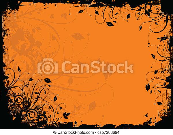 Floral Grunge - csp7388694