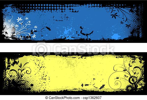 Floral Grunge Hintergrund - csp1362607