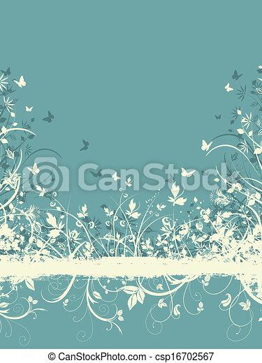 Floral grunge Hintergrund - csp16702567