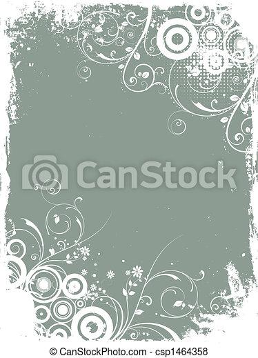 Floral Grunge Hintergrund - csp1464358