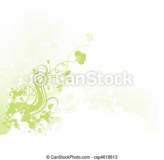 blumen-, grunge, hintergrund - csp4618613