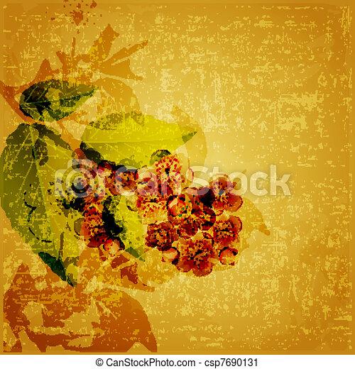 Floral grunge Hintergrund - csp7690131