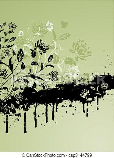 Floral Grunge - csp3144799