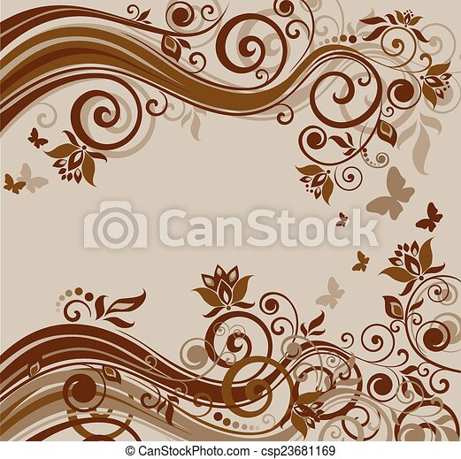 Floral Hintergrund - csp23681169