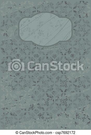 Floral Grungemuster - csp7692172