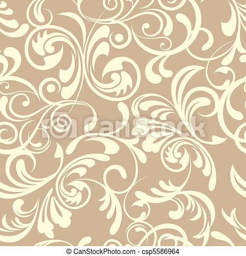 blumen muster, seamless - csp5586964
