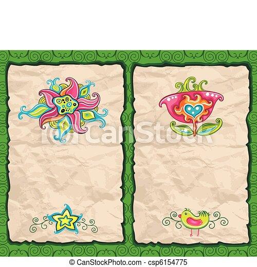 Blumenpapier-Grung-Hintergrund - csp6154775
