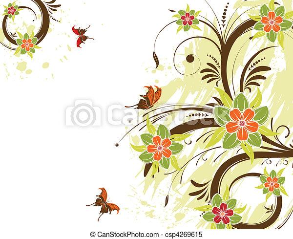 Blumenrahmen - csp4269615
