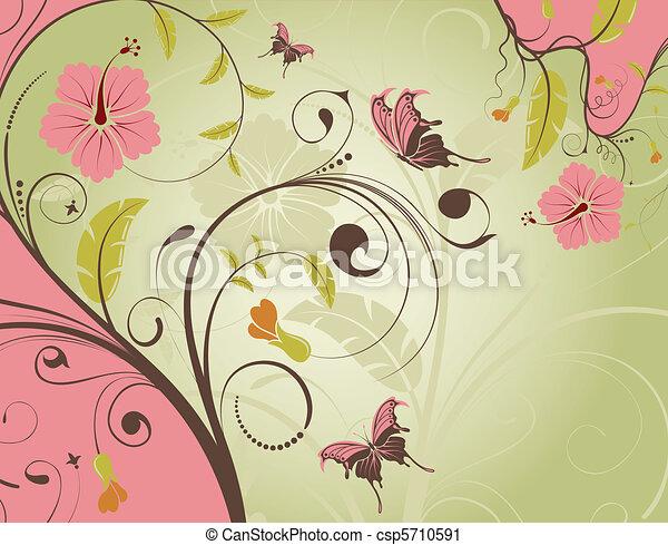 Blumenrahmen - csp5710591