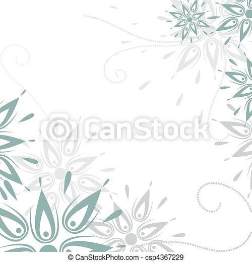 Vector grunge floral Hintergrund - csp4367229