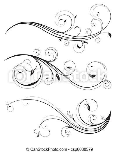 Blumenelemente - csp6038579