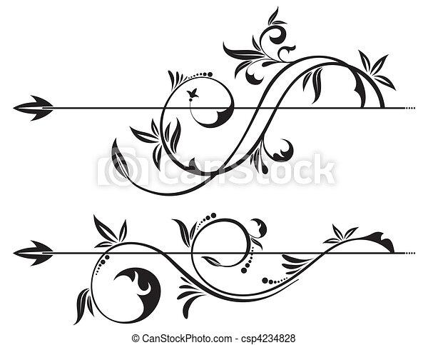 Blumenrollelement - csp4234828