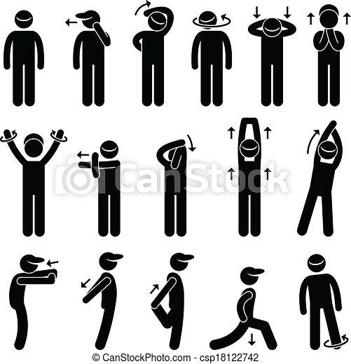 Body Stretching Training Icon. - csp18122742