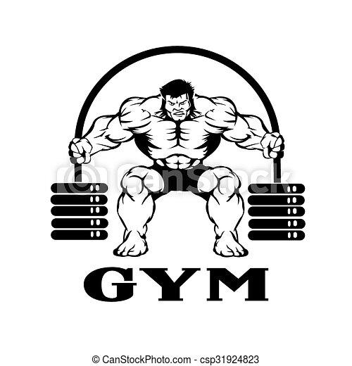 bodybuilder, hantel - csp31924823