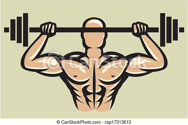 Bodybuilder. - csp17313613