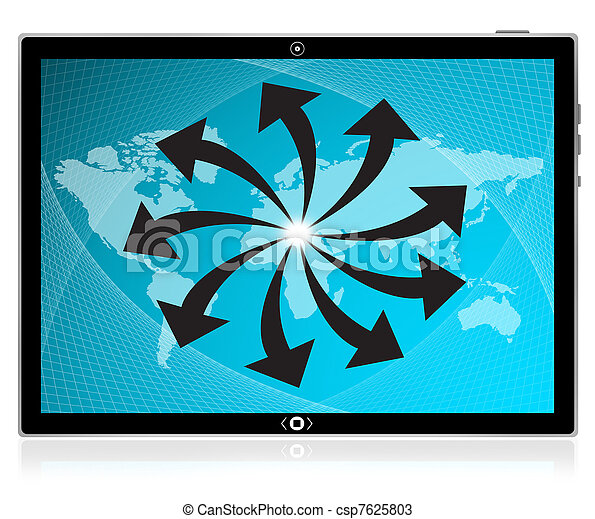 breit, tablette, schirm, pc, schnittstelle, edv, berühren, world., am besten - csp7625803