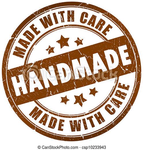 briefmarke, handgearbeitet - csp10233943