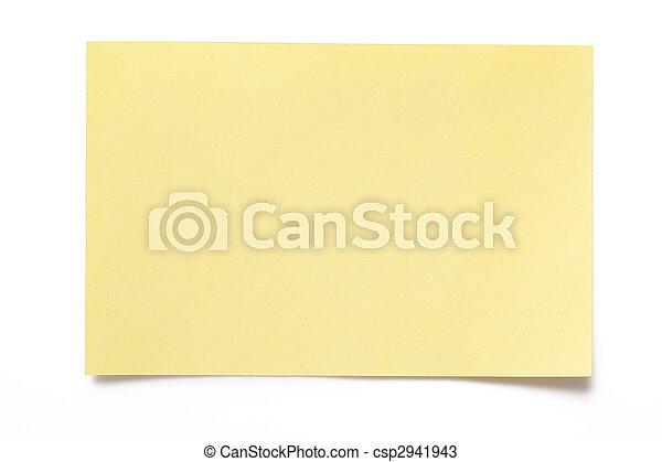 Gelbes Papier - csp2941943