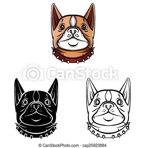 Farbige Hundekopffigur - csp25923884