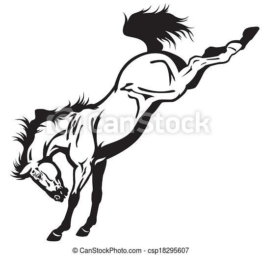 Bucking Pferd. - csp18295607
