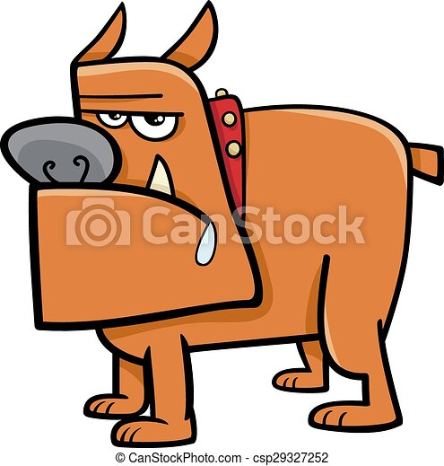 Bulldog Cartoon Illustration. - csp29327252