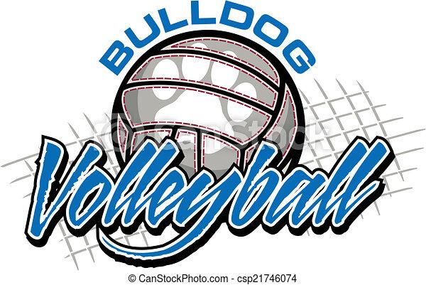 Bulldog Volleyball Design. - csp21746074