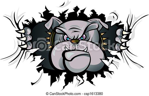 Bulldog-Angriff - csp1613380