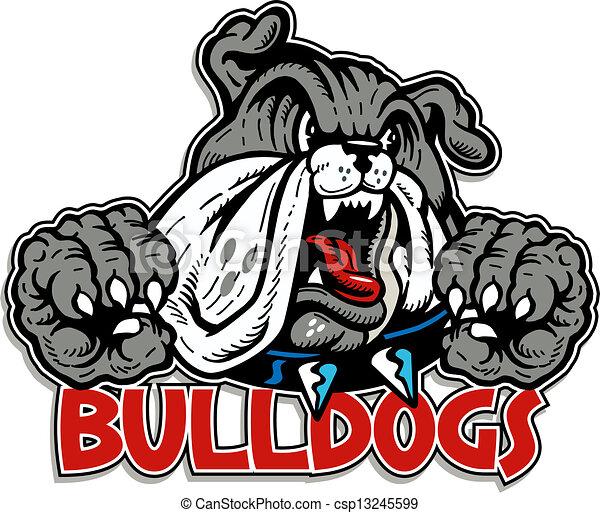 bulldogge, bellen, mittel - csp13245599