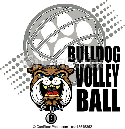 Bulldog Volleyball Design - csp18545362