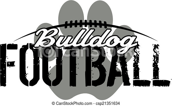 bulldogge, druck, fußball, pfote - csp21351634