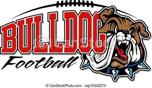 bulldogge, fußball, design - csp15342274