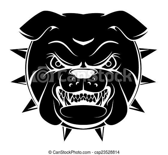 bulldogge, kopf - csp23528814