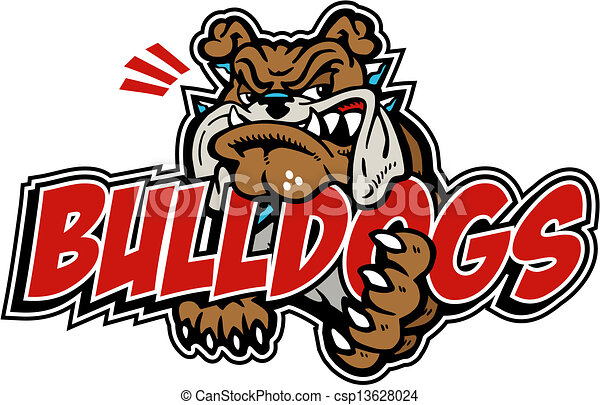 Gemeine Bulldogge mit Wortwahl - csp13628024