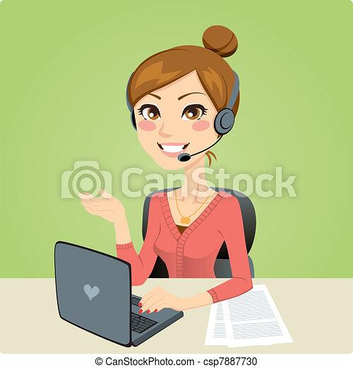 Callcenter-Frau - csp7887730