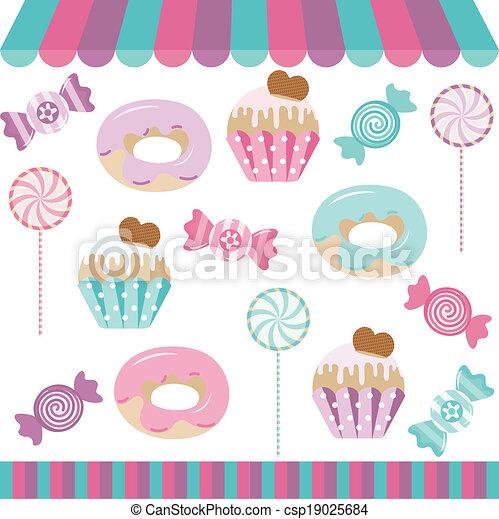 Candy Shop digitale Collage. - csp19025684