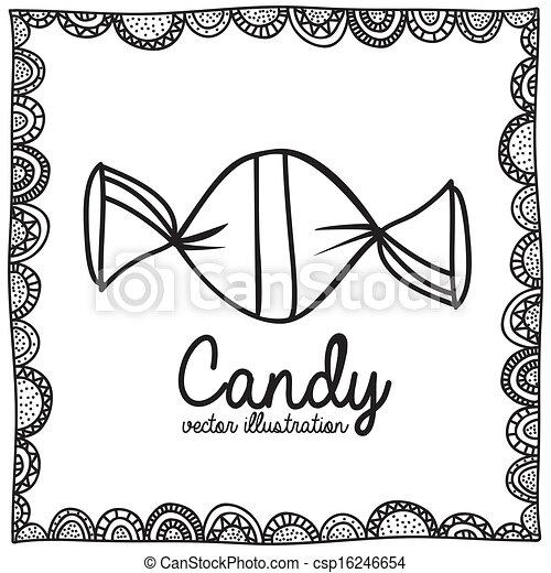 Candy Zeichnung. - csp16246654