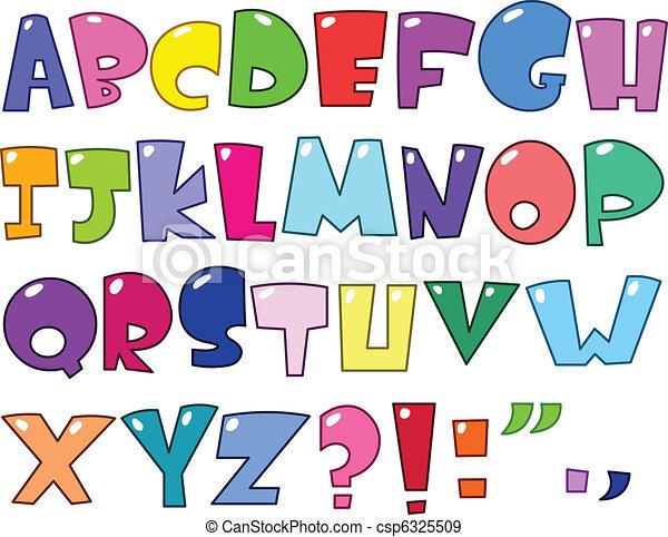 Cartoon Alphabet - csp6325509