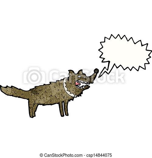 Cartoon bellender Hund - csp14844075