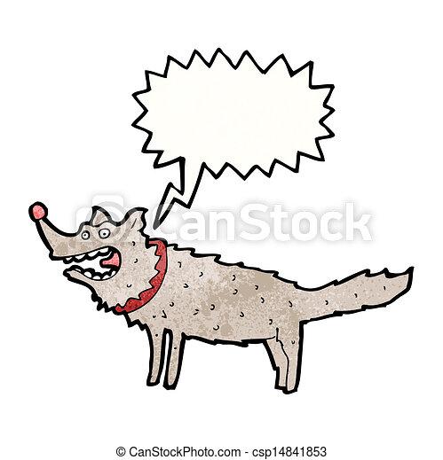 Cartoon bellender Hund - csp14841853